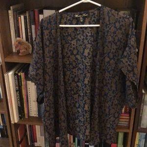 Winter Kate Floral Silk Drape Blouse